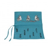 JB67 Roll Up Knitting Needle Holder-TURQUOISE