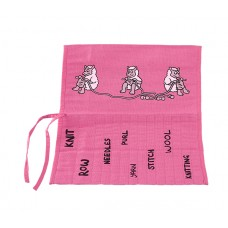JB68 Roll Up Knitting Needle Holder-PINK