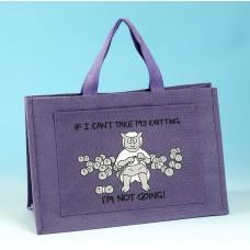 JB77 Knitting Bag IF I CANT TAKE MY KNITTING Lilac