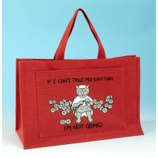 JB78 Knitting Bag IF I CANT TAKE MY KNITTING Red