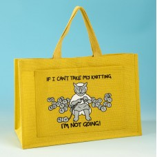 JB80 Knitting Bag IF I CANT TAKE MY KNITTING Yellow