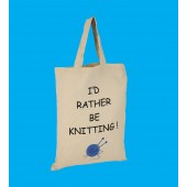 SB6 Small Knitting Shopper Bag-ID RATHER BE KNITTING