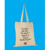 SB9 Large Knitting Shopper Bag-TO KNIT OR NOT TO KNIT
