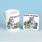 5502 Bone China Mug and Coaster Set-HOOKED ON CROCHET