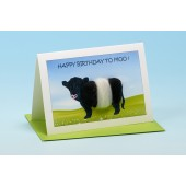 C13 Black and White Cow Card-HAPPY BIRTHDAY TO MOO