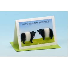 C14 Black and White Cow Card-HAPPY BIRTHDAY TWO MOOS