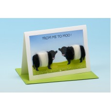 C16 Black and White Cow Card-FROM ME TO MOO