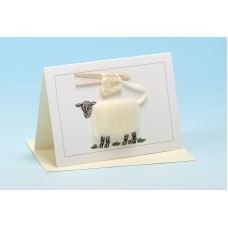 S1 Sheep Card-WHITE KNITTING