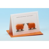 S128 Sheep Card-HAPPY BIRTHDAY TWO EWES