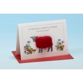 S133 Sheep Card-IF FRIENDS WERE FLOWERS, I'D PICK EWE