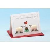 S134 Sheep Card-HAPPY ANNIVERSARY TWO EWES