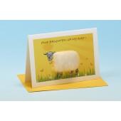S144 Sheep Card-EWE BRIGHTEN UP MY DAY