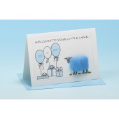 S151 Sheep Card-WELCOME TO YOUR LITTLE LAMB-BLUE