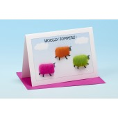 S154 Sheep Card-WOOLLY JUMPERS
