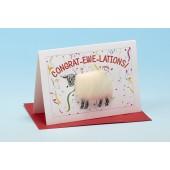 S155 Sheep Card-CONGRAT-EWE-LATIONS