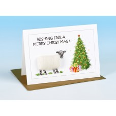 S157 Sheep Card-WISHING EWE A MERRY CHRISTMAS