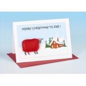 S158 Sheep Card-MERRY CHRISTMAS TO EWE