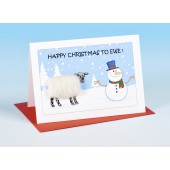 S159 Sheep Card-HAPPY CHRISTMAS TO EWE