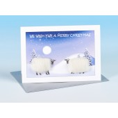 S160 Sheep Card-WE WISH EWE A MERRY CHRISTMAS