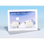 S160 Sheep Card-WE WISH EWE A MERRY CHRISTMAS