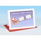 S161 Sheep Card-WISHING EWE A MERRY CHRISTMAS
