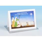 S162 Sheep Card-WHILE SHEPHERDS WATCHED THEIR FLOCKS