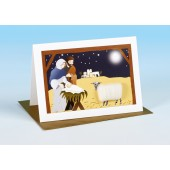 S166 Sheep Card-NATIVITY SCENE