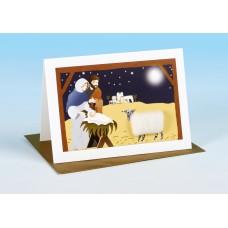 S166 Sheep Card-NATIVITY SCENE