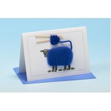 S37 Sheep Card-COLOURED KNITTING
