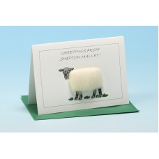 S68 Personalised Sheep Card-GREETINGS FROM . . . . . . . . . .