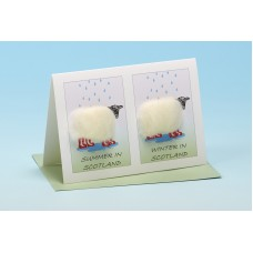 S70 Personalised Sheep Card-SUMMER IN/WINTER IN . . . . . . . . . .