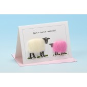 S83 Sheep Card-BABY EWE'VE ARRIVED PINK