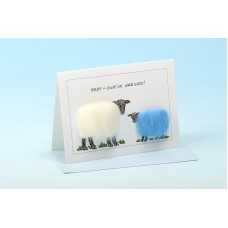 S84 Sheep Card-BABY EWE'VE ARRIVED BLUE
