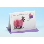 S88 Sheep Card-HAPPY BAA-THDAY TO EWE BALLOONS