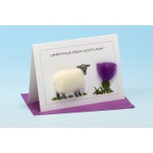 SC24 Scottish Card-SHEEP WITH THISTLE