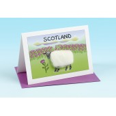 SC31 Scottish Card-SHEEP AND THISTLES