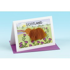 SC32 Scottish Card-COW AND THISTLE
