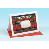 SC34 Scottish Card-TARTAN SHEEP