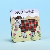5207 Coaster-TARTAN SHEEP
