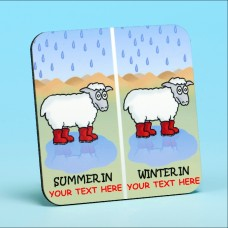 5210 Personalised Coaster-SUMMER IN/WINTER IN . . . . . . . . . .