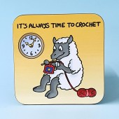 5248 Coaster-THERES ALWAYS TIME TO CROCHET