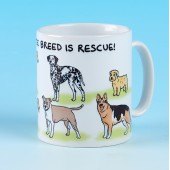 5175 Mug-MY FAVOURITE BREED IS RESCUE