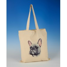 8615 Shopper Bag-MARK CHARLES-COLOURED FRENCH BULLDOG