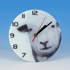 8702 Glass Clock-MARK CHARLES-SHEEP