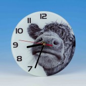 8703 Glass Clock-MARK CHARLES-COW