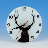 8707 Glass Clock-MARK CHARLES-STAG