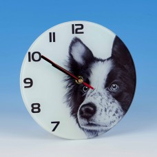 8709 Glass Clock-MARK CHARLES-COLLIE