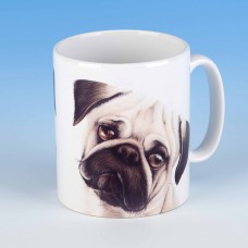 8113 Mug-MARK CHARLES-COLOURED PUG