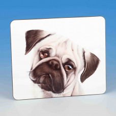 8313 Placemat-MARK CHARLES-COLOURED PUG