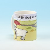5112 Personalised Mug-WISH EWE WERE HERE . . . . . . . . . .